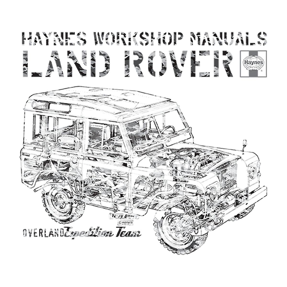 Haynes Workshop Manual Land Rover Camo Black Kid's Hooded
