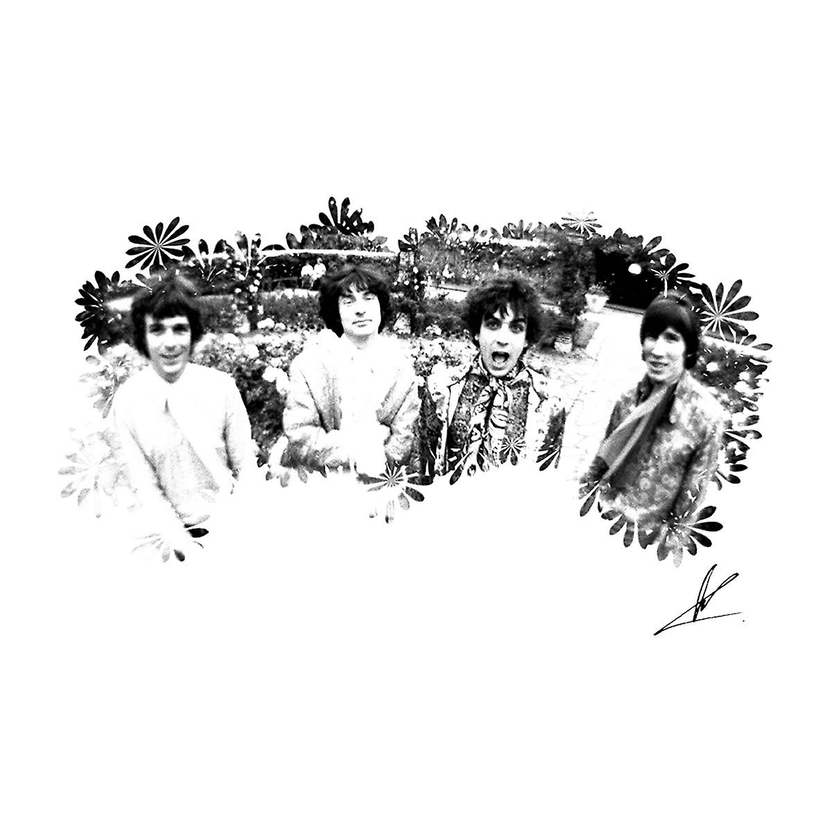 Pink Floyd Ruskin Park Shoot Floral 1967 Black And White