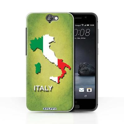 STUFF4 Case/Cover for HTC One A9/Italy/Italian/Flag ...