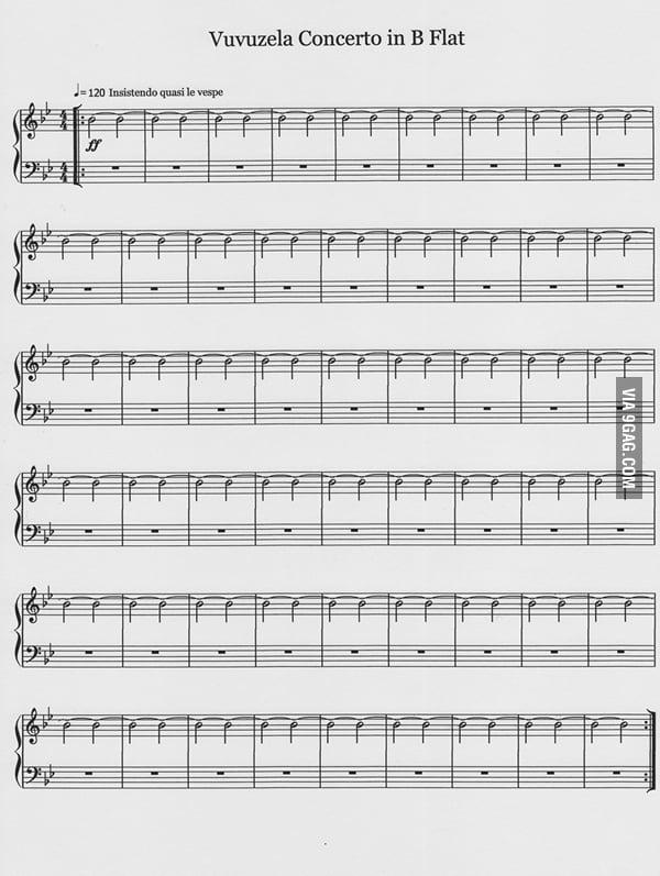 Vuvuzela Concerto in B Flat