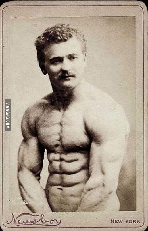 Eugen Sandow was a 19th century strongman and body builder