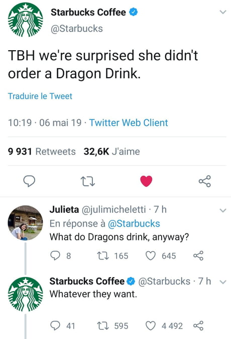 Well played Starbucks, free product placement in a fantasy show
