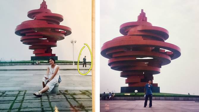 Married couple in China discover they appeared in same photograph as teenagers