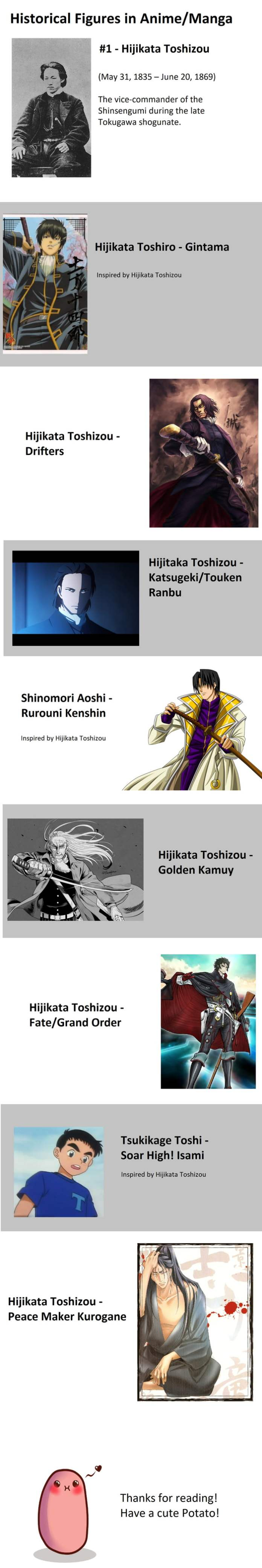 Historical Figures in Anime/Manga #1 - Hijikata Toshizou