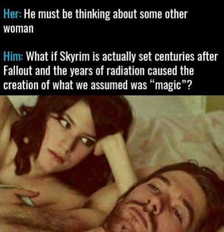 Did you ever think about that ?