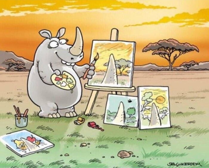 A rhino's perspective on life
