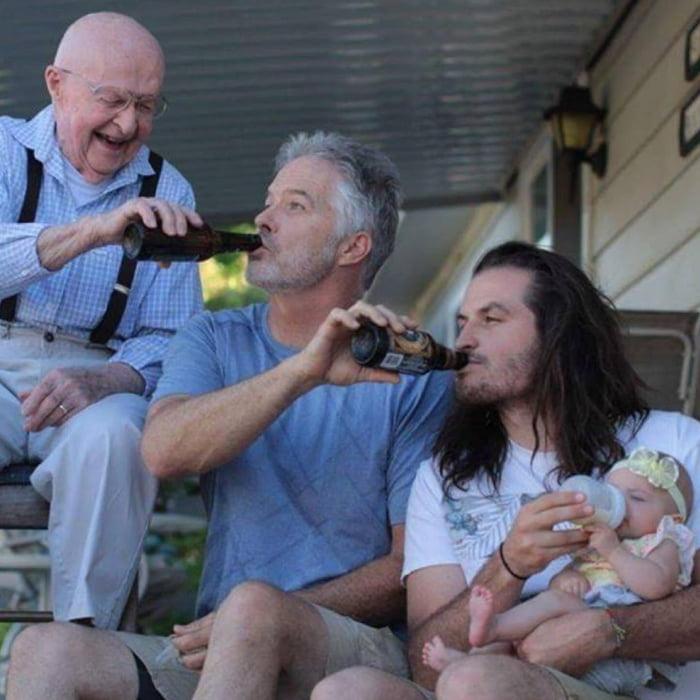 Dads feeding their babies
