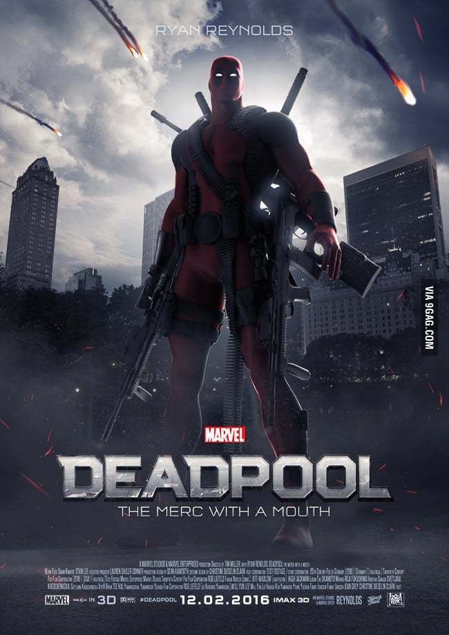 It's official! Rated R Deadpool movie on Valentine's Day 2016!