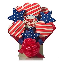 4th of july patriotic cookies bouquet