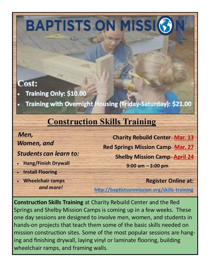 Construction Skills Training Flyer 3