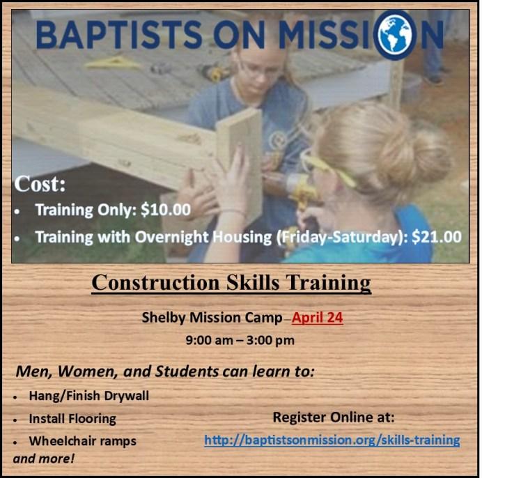 Construction Skills Training Flyer 2