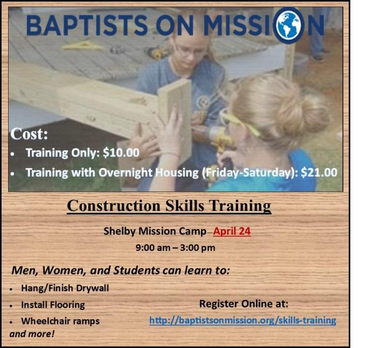 Construction Skills Training Flyer 3