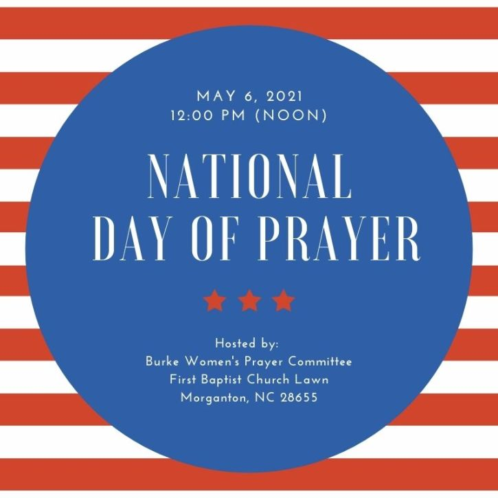 Red Stripes National Prayer Day Social Media Graphic