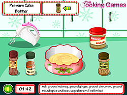 Play Cooking Christmas Cake Game Online Y8 Com
