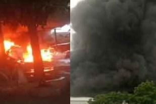 huge fire accident in krishna dist Tempalli