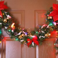 How to Decorate Doorways With Christmas Garland