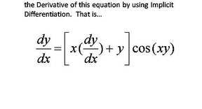 How to Find dy/dx by Implicit Differentiation given a