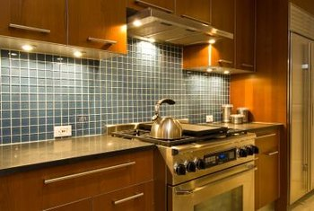 kitchen task lighting black and white striped rug for over the stove home guides sf gate under cabinet led lights can provide
