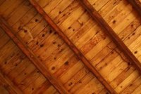 How to Use Oil-Based Wood Stain on a Ceiling | Home Guides ...