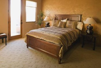 Deep Mattresses Protrude On Sleigh Beds With Low Footboards