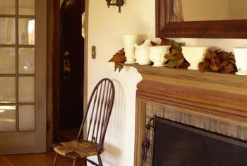 formal living room with brick fireplace red couches how to upgrade remodel a home guides sf gate adding wooden mantel your can give it more look