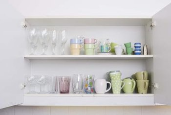 How To Fix Replace & Cover The Paint On Kitchen Cabinet Shelves