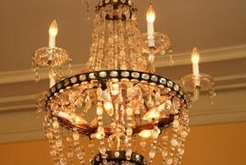 Adding Antique And Outdoor Elements To A Crystal Chandelier Makes It More Rustic
