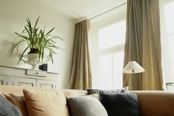 How To Hang Curtains When The Window Is At The Top Of The Wall Home Guides SF Gate
