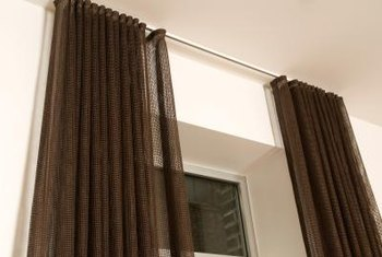 How To Hang A Long Curtain From The Ceiling Home Guides SF Gate