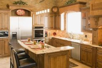 What Is A Good Green Paint Color For A Kitchen With Oak Cabinets