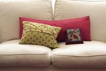 pillow covers for living room sophisticated rooms how much fabric is needed to make a sofa cover home guides only need small amount of