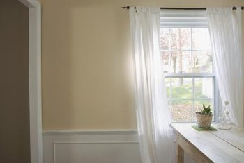 how to put chair rail molding striped accent chairs with arms up a on painted drywall home guides sf gate paint or stain