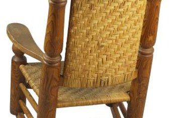wicker rocking chairs wooden baby high chair singapore how to fix the backing off a home guides sf some rocker repairs can be done at without assistance