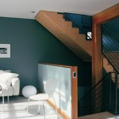 How To Paint A Living Room Wall Navy Blue And White Ideas With Staircase Home Guides Sf Gate There Are Several Appealing Techniques For Bringing Together Using