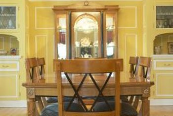 oak kitchen tables drop in farmhouse sinks how to finish an table home guides sf gate s natural honey brown tones fit many decor themes