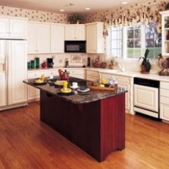 Kitchen To Go Cabinets Tile Floor Designs What Color With A Red Home Guides Sf Gate Oak Floors Add Instant Warmth The