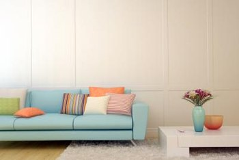 color sofa used rv what should i paint the wall with a light blue couch home pale neutral lets accent colors sing