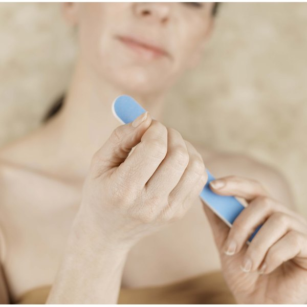 Use A Nail File To Shape Your Acrylic Nails