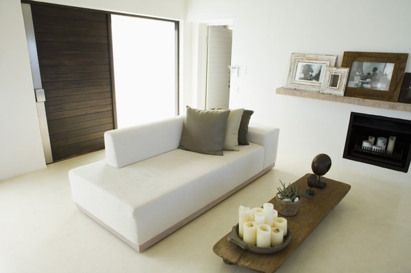 white couch living room ideas interior design modern how to decorate a around sofa home guides sf gate wood tone furniture coordinates with