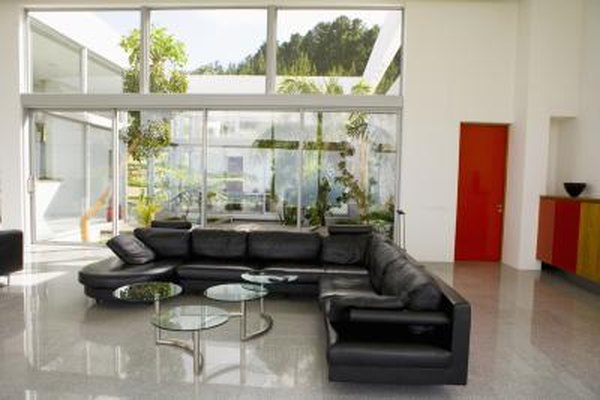 black sectional living room ideas bohemian design how to decorate around a home guides sf gate