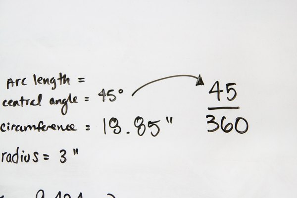 How to Calculate the Arc Length, Central Angle, and
