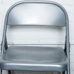 Blue Metal Folding Chairs Kohls Chair Covers How Do You Paint A Little Can Give An Old New Life