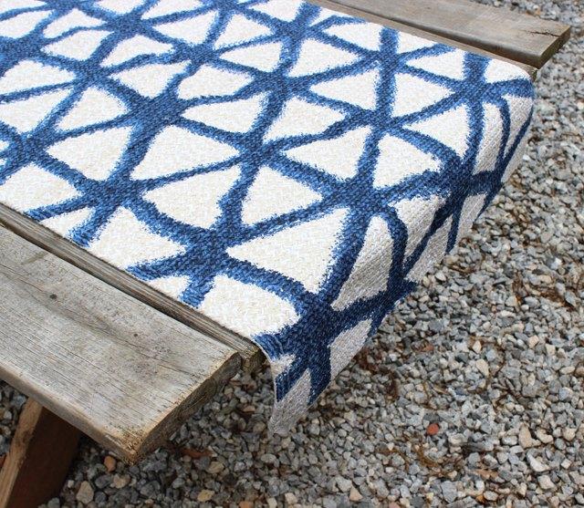 kitchen rug runners cabinet knobs ideas 如何创建红色 白色和蓝色表格设置 墨家弟子 使用地毯作为表格跑步者