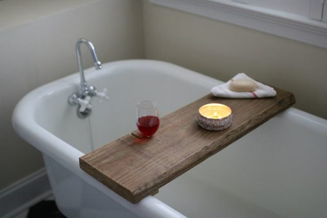 Easy To Make Reclaimed Wood Bath Caddy EHow