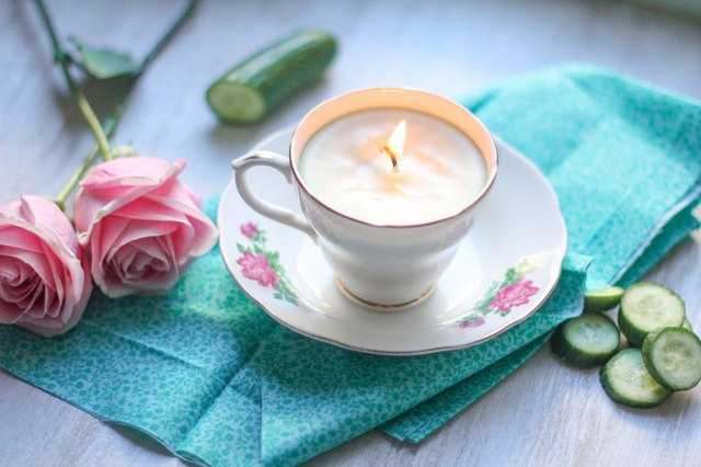 Put the teacup on a mismatched saucer for vintage charm.