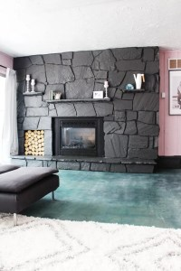 How to Update a Rock Fireplace By Using Paint | eHow