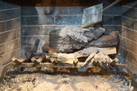 How to Put Out a Fire in a Fireplace (with Pictures)   eHow