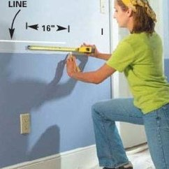 How To Put Chair Rail Molding Best Chairs Storytime Bilana Up Homesteady Measure Carefully