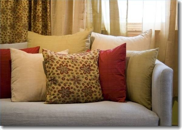 fabric sofa cleaner s levin furniture sofas how to clean throw pillows | ehow