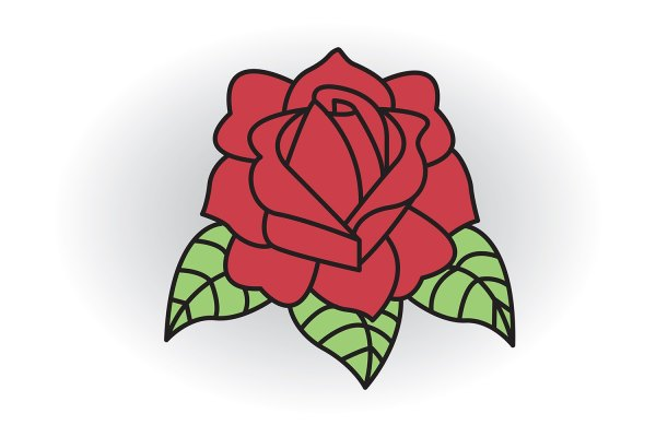 Draw Classic Tattoo Style Rose With Ehow